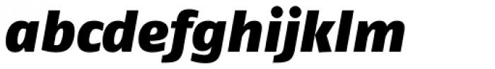 FF Fago Pro Black Italic Font LOWERCASE