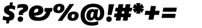 FF Fago Pro Extd Black Italic Font OTHER CHARS