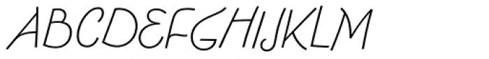 FF Fontesque Sans Std Light Italic Font UPPERCASE