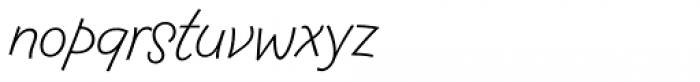 FF Fontesque Sans Std Light Italic Font LOWERCASE