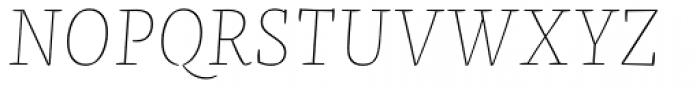 FF Franziska OT Hairline Italic Font UPPERCASE