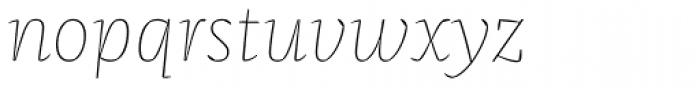 FF Franziska OT Hairline Italic Font LOWERCASE