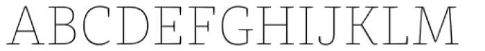 FF Franziska OT Hairline Font UPPERCASE