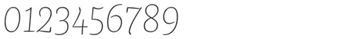 FF Franziska Pro Hairline Italic Font OTHER CHARS