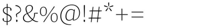 FF Franziska Pro Thin Font OTHER CHARS