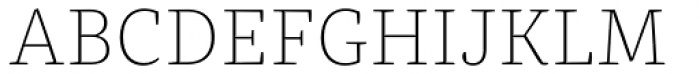 FF Franziska Pro Thin Font UPPERCASE