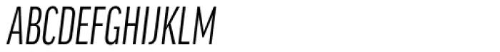 FF Good Headline Pro Comp Italic Font UPPERCASE