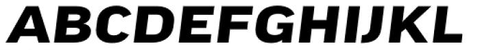FF Good Headline Pro Extd Bold Italic Font UPPERCASE