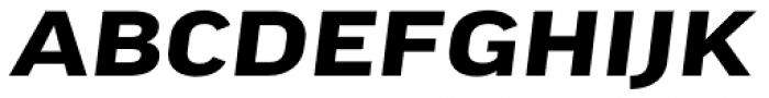 FF Good Pro Extd Bold Italic Font UPPERCASE