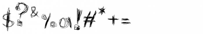 FF Graffio Difensivo OT Font OTHER CHARS