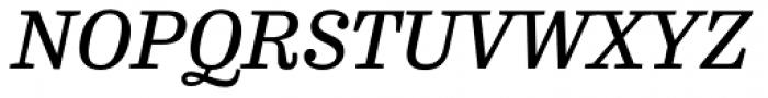 FF Hertz OT Book Italic Font UPPERCASE