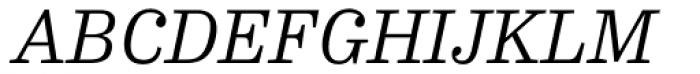 FF Hertz OT Light Italic Font UPPERCASE