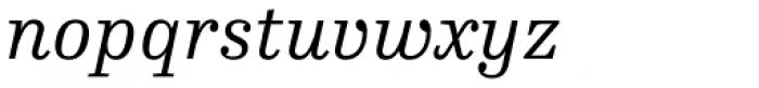 FF Hertz OT Light Italic Font LOWERCASE