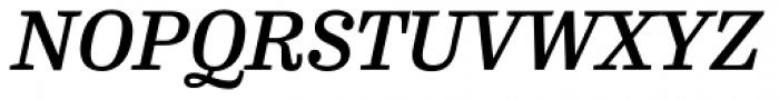 FF Hertz OT Medium Italic Font UPPERCASE