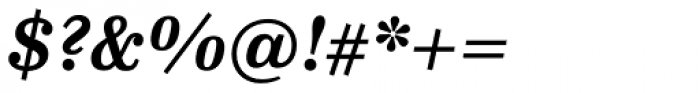 FF Hertz Pro Bold Italic Font OTHER CHARS