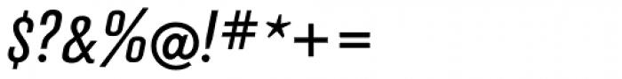 FF Hydra OT Book Italic Font OTHER CHARS