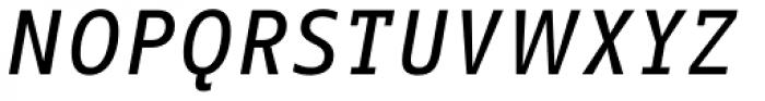 FF Info Correspondence Pro Medium Italic Font UPPERCASE