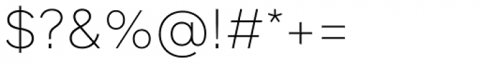 FF Infra ExtraLight Font OTHER CHARS