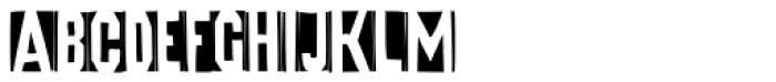 FF Iodine Negative Font UPPERCASE