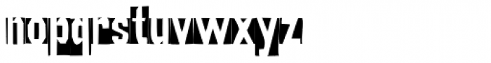 FF Iodine Negative Font LOWERCASE