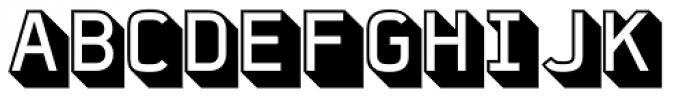 FF Jigger Angled Font UPPERCASE