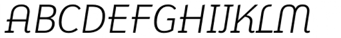 FF Karbid Display Pro Light Italic Font UPPERCASE