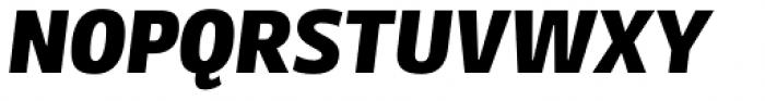 FF Kaytek Sans Black Italic Font UPPERCASE