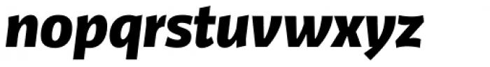 FF Kaytek Sans Black Italic Font LOWERCASE