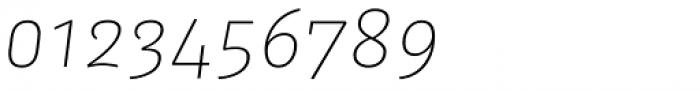 FF Kaytek Sans Thin Italic Font OTHER CHARS