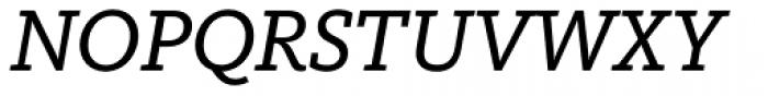 FF Kievit Slab OT Book Italic Font UPPERCASE