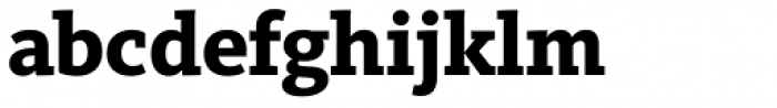 FF Kievit Slab OT ExtraBold Font LOWERCASE
