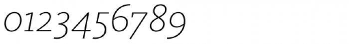 FF Kievit Slab OT ExtraLight Italic Font OTHER CHARS