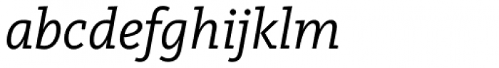 FF Kievit Slab OT Italic Font LOWERCASE
