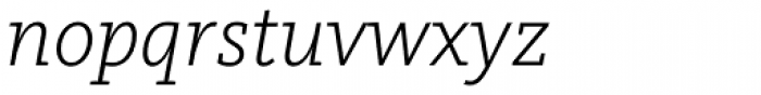 FF Kievit Slab OT Light Italic Font LOWERCASE