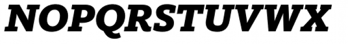 FF Kievit Slab Pro Black Italic Font UPPERCASE