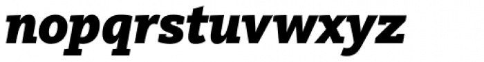 FF Kievit Slab Pro Black Italic Font LOWERCASE