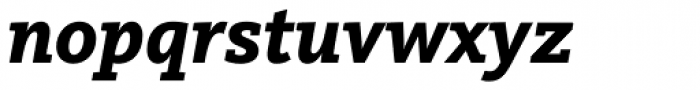 FF Kievit Slab Pro ExtraBold Italic Font LOWERCASE