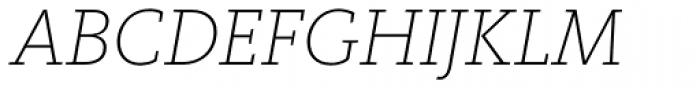 FF Kievit Slab Pro ExtraLight Italic Font UPPERCASE