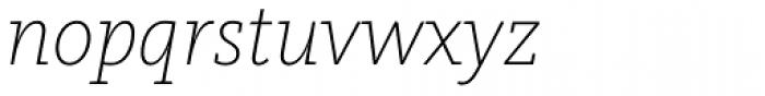 FF Kievit Slab Pro ExtraLight Italic Font LOWERCASE