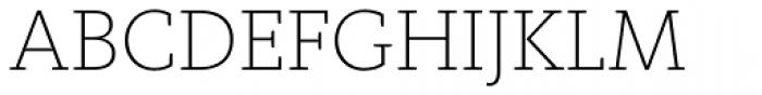 FF Kievit Slab Pro ExtraLight Font UPPERCASE