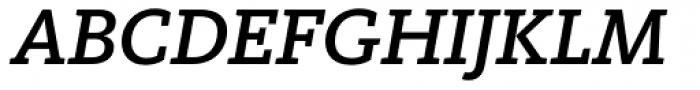 FF Kievit Slab Pro Medium Italic Font UPPERCASE