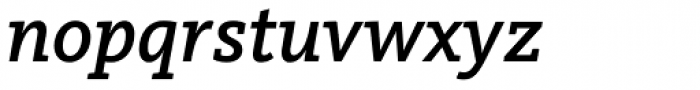 FF Kievit Slab Pro Medium Italic Font LOWERCASE