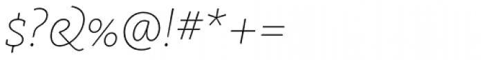 FF Kievit Slab Pro Thin Italic Font OTHER CHARS