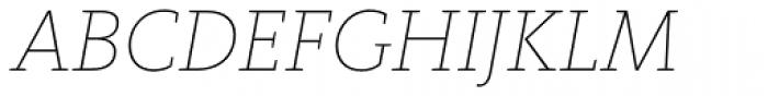FF Kievit Slab Pro Thin Italic Font UPPERCASE