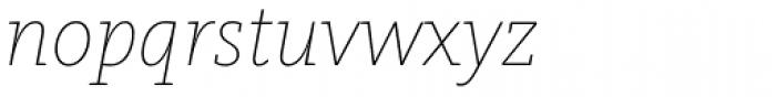 FF Kievit Slab Pro Thin Italic Font LOWERCASE