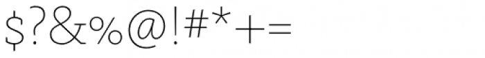 FF Kievit Slab Pro Thin Font OTHER CHARS