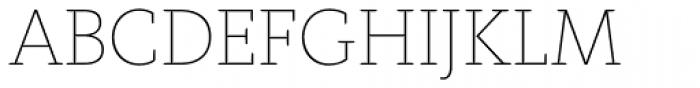 FF Kievit Slab Pro Thin Font UPPERCASE