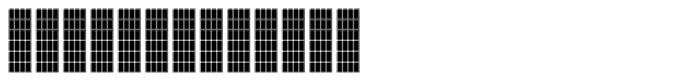 FF Luggagetag Grid Font UPPERCASE
