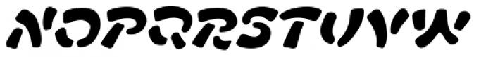 FF Manga Stone OT Italic Font UPPERCASE