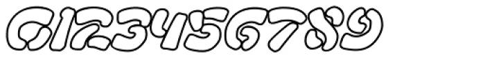 FF Manga Stone OT Outline Italic Font OTHER CHARS